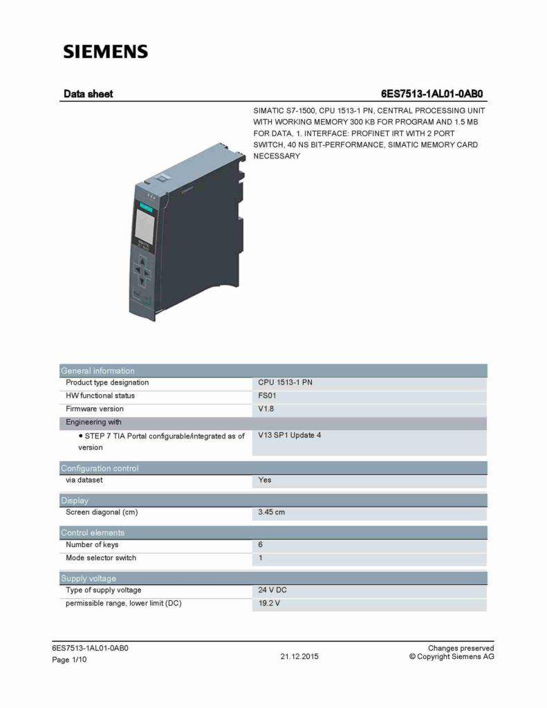 6ES7513-1AL01-0AB0_datasheet